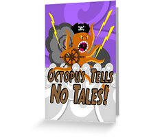 Octopus Tells no Tales! Purple Sky Version Greeting Card