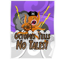 Octopus Tells no Tales! Purple Sky Version Poster