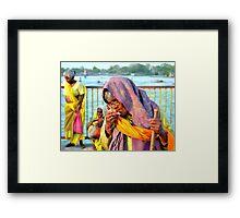 Old Lady, Haridwar, India Framed Print