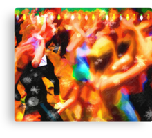 The Zumba Instructor Christmas Party Canvas Print