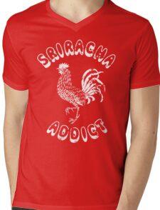 Sriracha Addict Vintage Mens V-Neck T-Shirt
