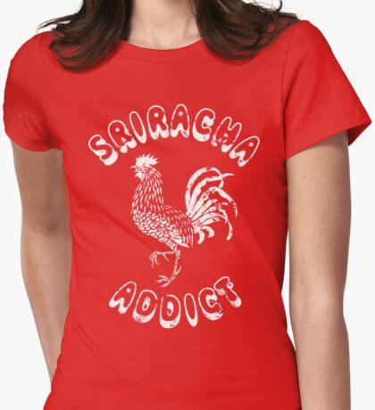 Sriracha Addict Vintage Womens Fitted T-Shirt