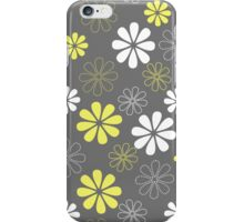 Grey and Yellow Flower Pattern  iPhone Case/Skin