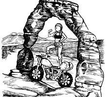 Motos in Moab by Amanda Zito