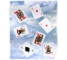 cloud gaming with playing cards Poster
