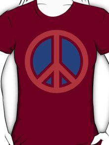 Red, White, and Blue Peace Sign T-Shirt
