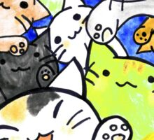 Manga cats conquer the world again (with frame) Sticker
