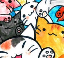 Manga cats conquer the world (with frame) Sticker