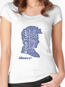 Allons-y, 10th Doctor, Doctor Who Women's Fitted Scoop T-Shirt