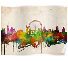 london city skyline 4 Poster