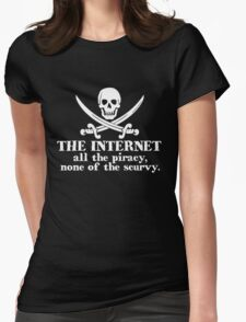 The internet - white Womens Fitted T-Shirt