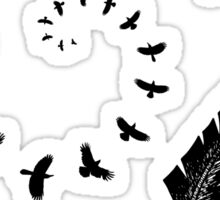Dark wings dark words, quote Sticker