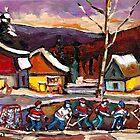 POND HOCKEY 4 by Carole  Spandau