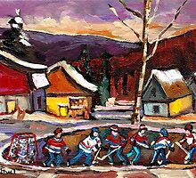 POND HOCKEY 4 by Carole  Spandau