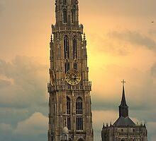 Onze Lieve Vrouwe Toren - Antwerpen - Belgium by Gilberte