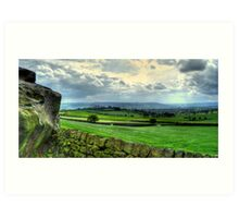 View from Almscliff Crag #1. Art Print