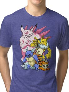 Pokemon Aren't Cute in Battle Tri-blend T-Shirt