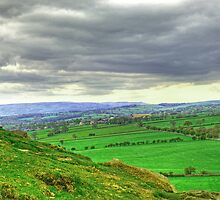 View from Almscliff Crag #3. by Colin Metcalf