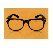 Geek Glasses Art Print