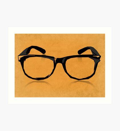 Geek Glasses Art Print