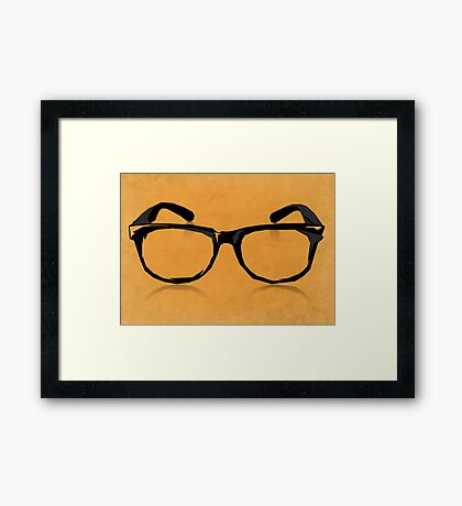 Geek Glasses Framed Print