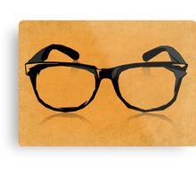 Geek Glasses Metal Print