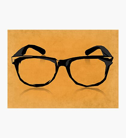Geek Glasses Photographic Print