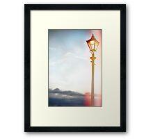 Lomo Lamp post Framed Print
