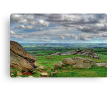 View from Almscliff Crag #4 Canvas Print