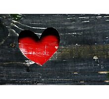 Wooden Heart Photographic Print