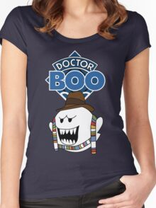 Doctor Boo - 4th Doctor Women's Fitted Scoop T-Shirt
