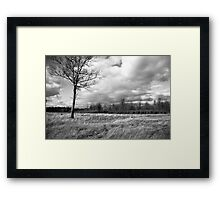 Passing Storm Clouds Irwin Prairie State Nature Preserve Framed Print
