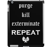 Purge-kill-exterminate white, Warhammer 40K iPad Case/Skin