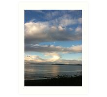 Cloud over Puget Sound, Washington Art Print