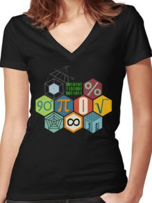 MATH! Women's Fitted V-Neck T-Shirt