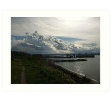 Ferry Dock, Edmonds, Washington Art Print