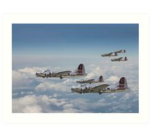 B17- 381st Group Outbound Art Print