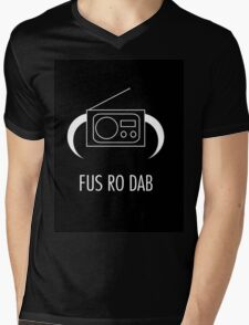 FUS RO DAB! Mens V-Neck T-Shirt