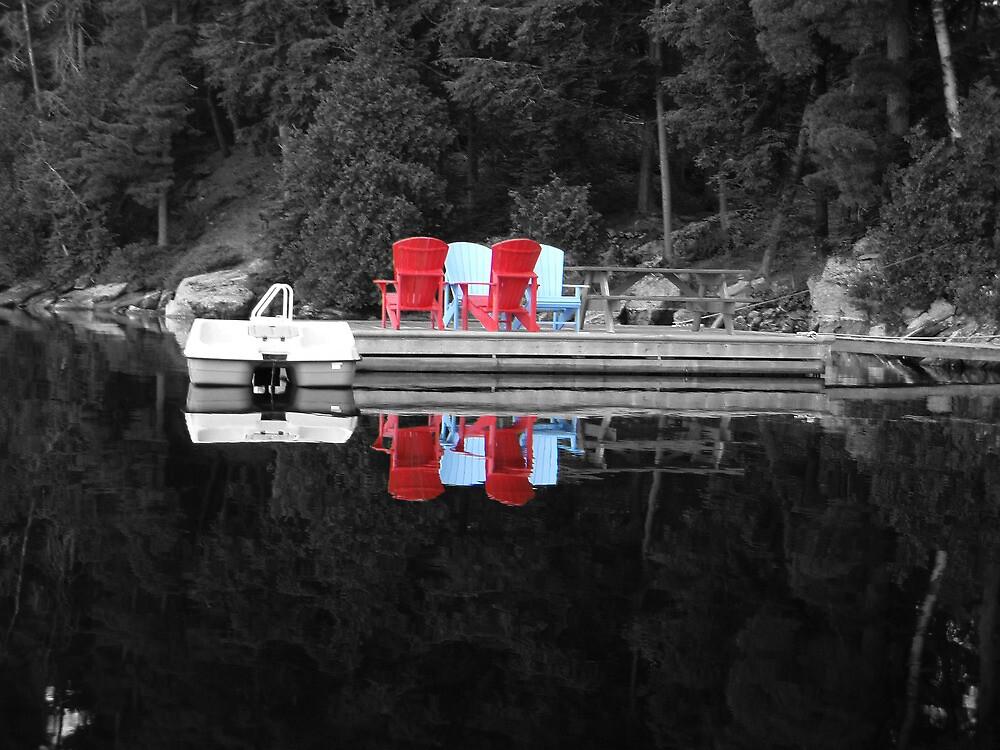 Cottage Reflection by rmks