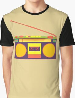 boombox - old cassette - Devices Graphic T-Shirt