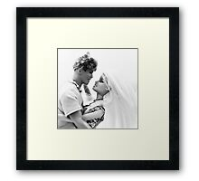 Ken and Barbie Fall In Love Framed Print