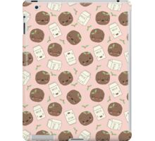 Cute Cookies and Milk (pink) iPad Case/Skin