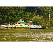 wisemans ferry car barge  Photographic Print