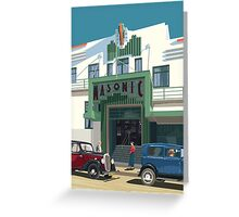 Art Deco Napier Masonic Hotel Greeting Card
