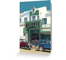 Art Deco Napier Masonic Hotel Greeting Card