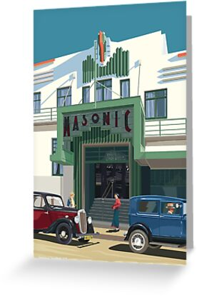 Art Deco Napier Masonic Hotel by contourcreative