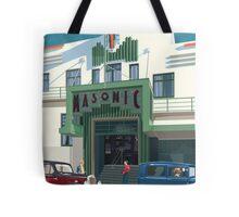 Art Deco Napier Masonic Hotel Tote Bag
