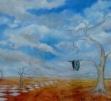 Time Is Of The Essence-Inspired by Salvador Dali. by Cathy Gilday