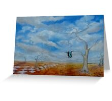 Time Is Of The Essence-Inspired by Salvador Dali. Greeting Card