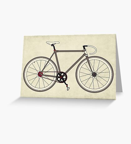 Road Bicycle Greeting Card